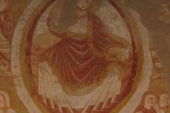 Le christ en majesté fresques eglise saint martin de vic