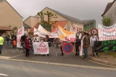 Manifestation contre la fermeture d'une classe2