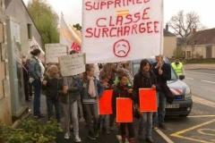 Manifestation contre la fermeture d'une classe4