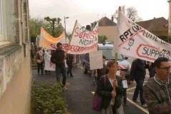 Manifestation contre la fermeture d'une classe6
