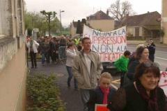 Manifestation contre la fermeture d'une classe7