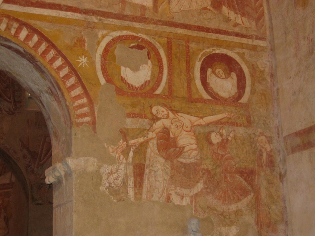 la descente de croix fresques eglise de Vic
