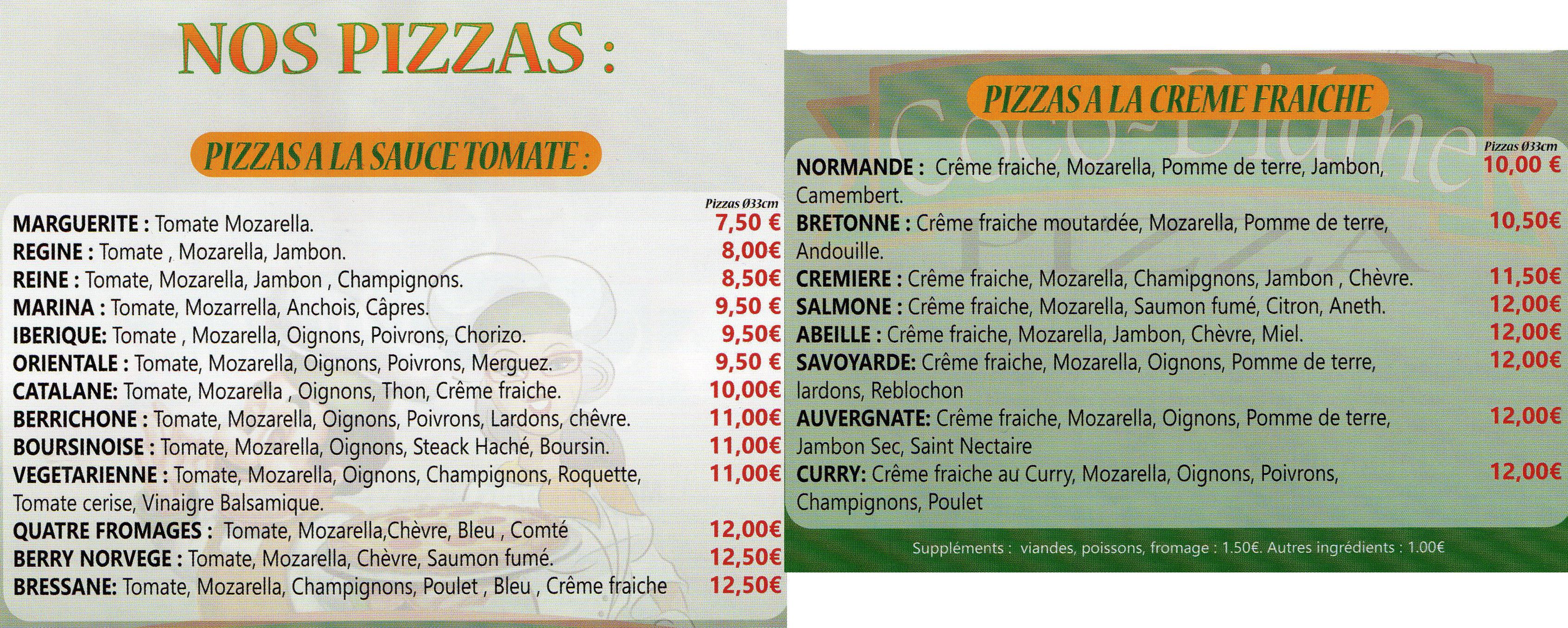 des pizzas à Vic
