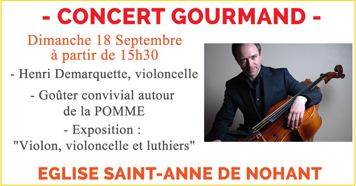 Concert Henri Demarquette à Nohant