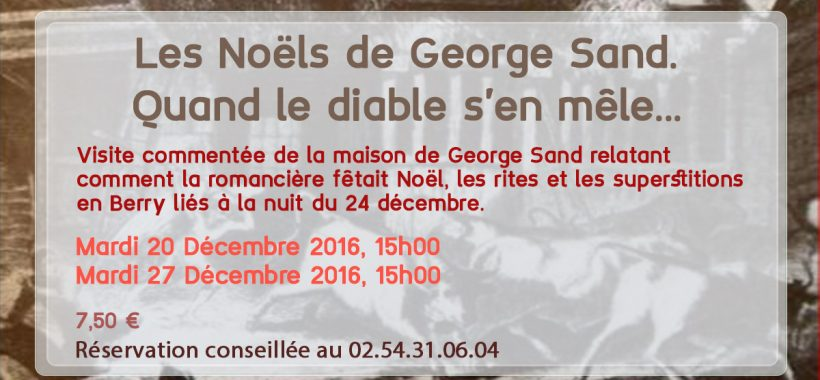 affiche noel george sand diable