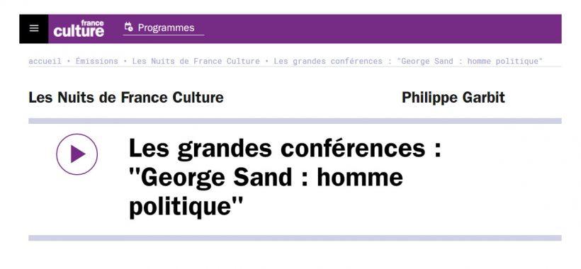George Sand homme politique
