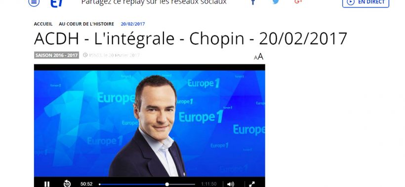 au coeur de l histoire europe1