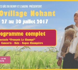 Festovillage Nohant Le programme